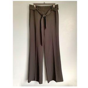 Ann Taylor wide leg tie belt trousers